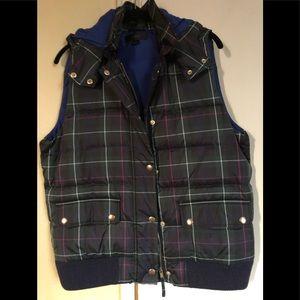 J.Crew puffer vest with detachable hood